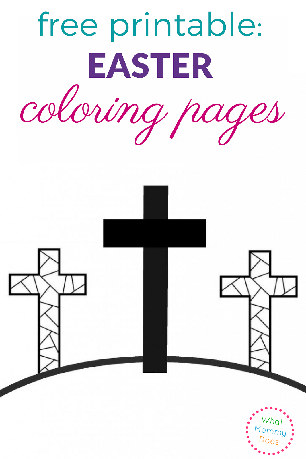 Awesome Easter Cross Coloring Pages Printable