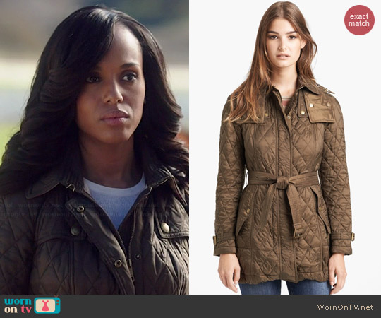Burberry Brit Finsbridge Quilted Jacket worn by Kerry Washington on Scandal