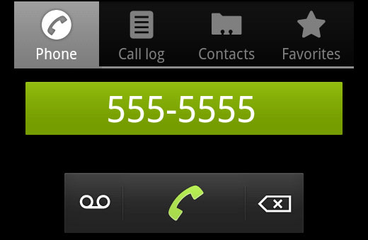 Tapping on a properly formatted phone number opens dialer in smart phones