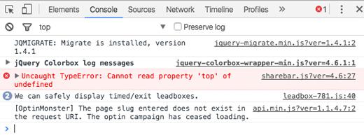 Browser Console Error