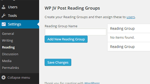 Creating reading groups for your WordPress site