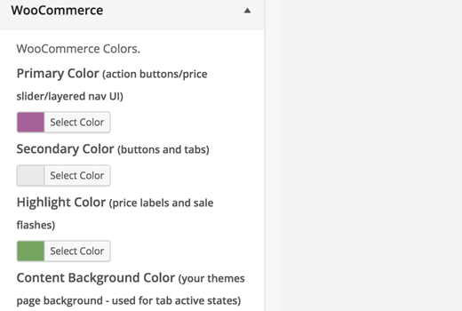 WooCommerce Colors