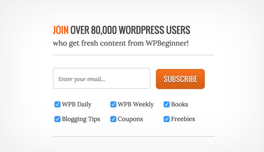Subscribe to WPBeginner newsletter