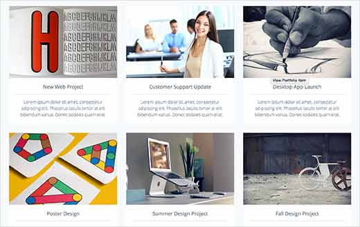 Portfolio websites with WordPress