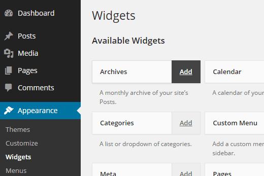 Widget yang dapat diakses di WordPress