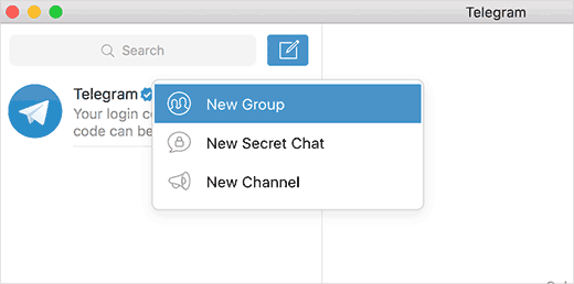 Creating a new Telegram group