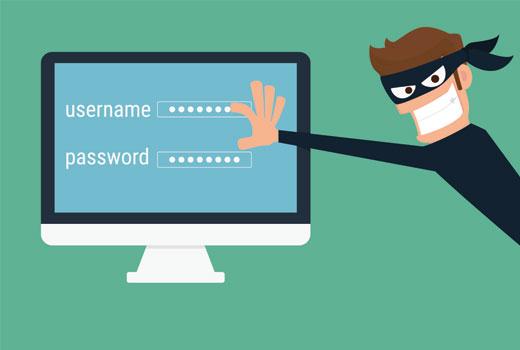 Using weak passwords