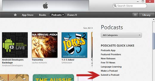 Submit your podcast to iTunes