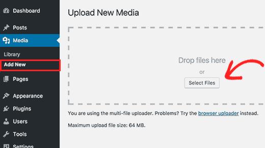 Thêm hình ảnh mới trực tiếp vào thư viện phương tiện WordPress