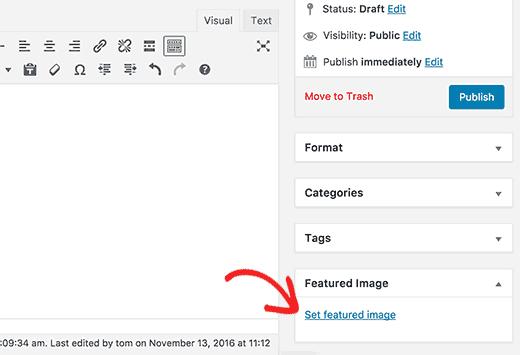 Đặt hình ảnh nổi bật cho một bài đăng trong WordPress