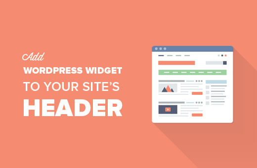 Add a WordPress widget to your site's header