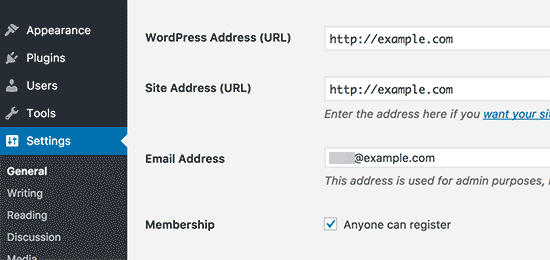 Changing WordPress and site URLs