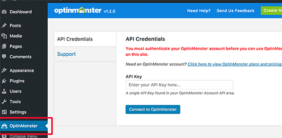 OptinMonster API Key