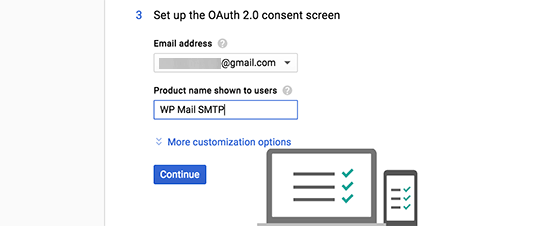 Ouath consent screen