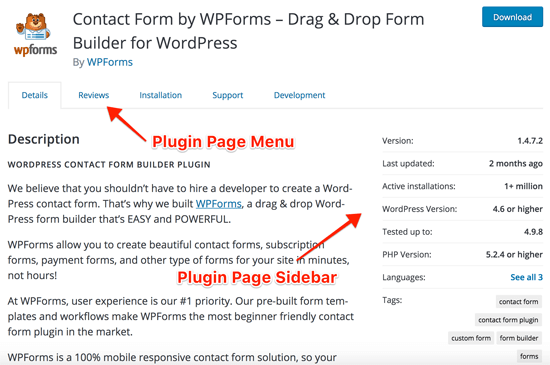 WordPress Plugin Listing Page
