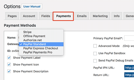 MemberPress payments