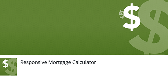 Responsive Mortgage Calculator