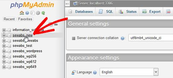 Select Database