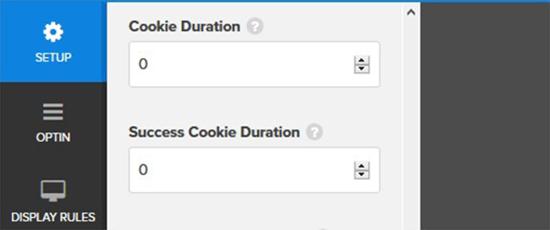 Set cookie duration value