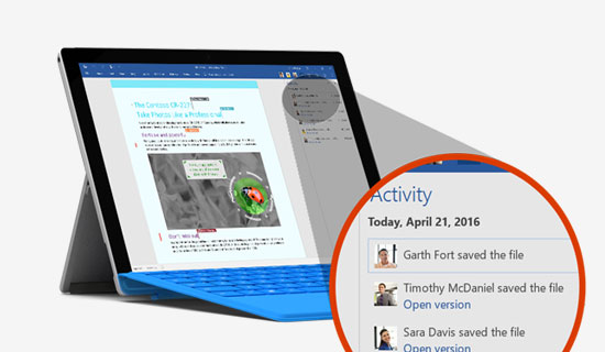 Collaboration tools in Office 365