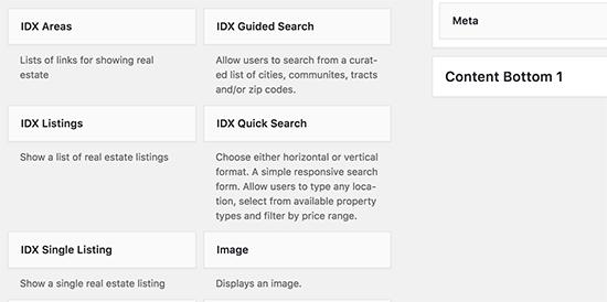 IDX widgets