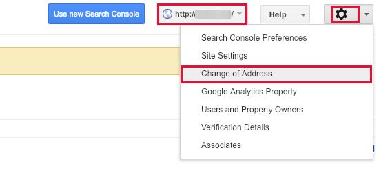 Change of address tool