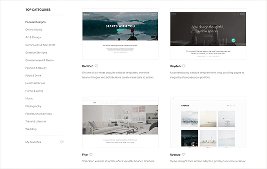 Squarespace templates