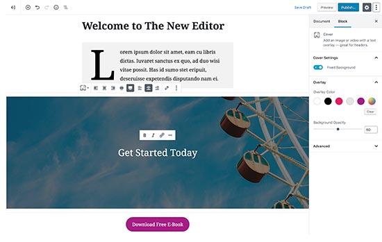 Редактор WordPress по умолчанию