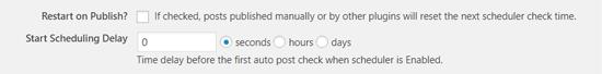 Auto Post Scheduler Post Delay Option