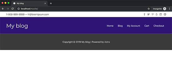 Custom header in your custom theme