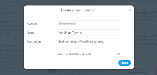 Create New Collection in TweetDeck