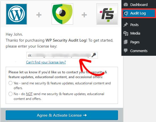 WP Scurity Activity Log plugin