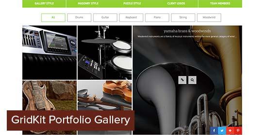 GridKit portfolio gallery