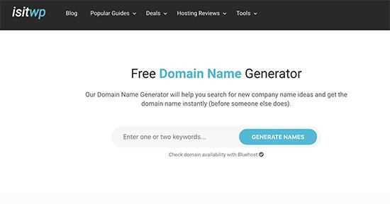 IsItWP Domain Generator