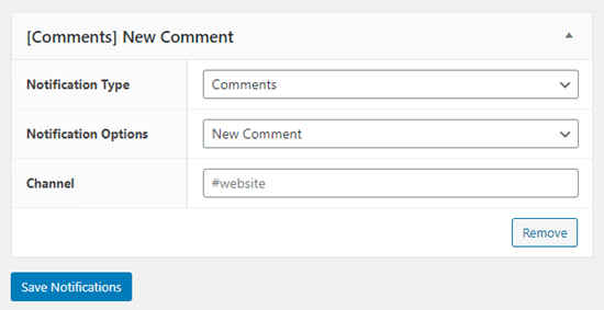 Setting up new comment notifications into Slack from WordPress