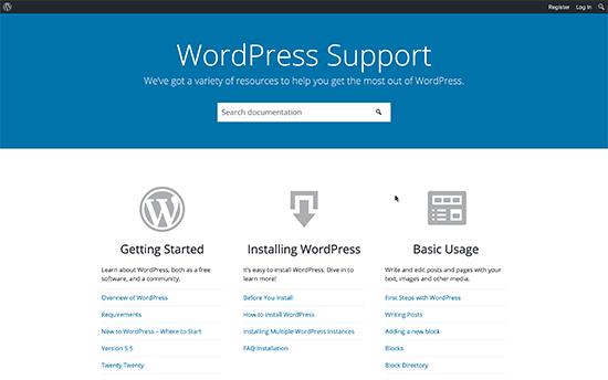 Forum dukungan WordPress