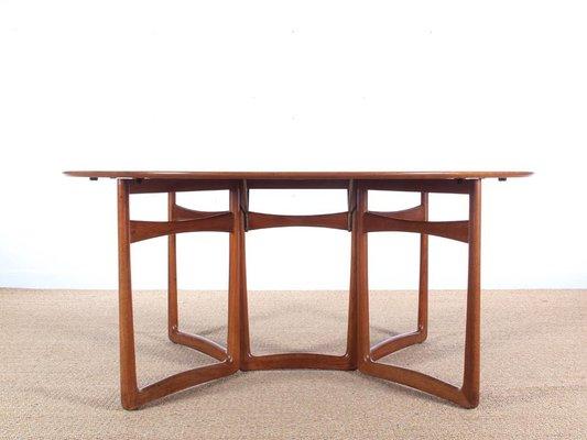 table de salle a manger pliable 20 59 mid century moderne en teck par hvidt et molgaard nielsen