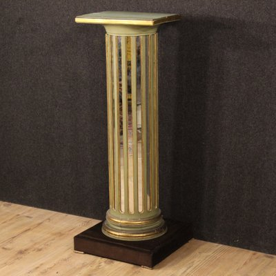 colonne en bois miroir et en bois laque france