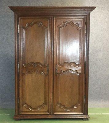 18th century louis xiv style wardrobe in oak