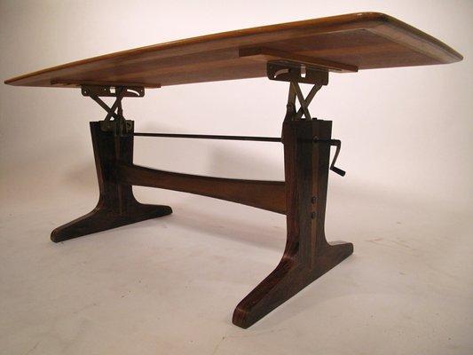 table basse reglable en hauteur 1960s