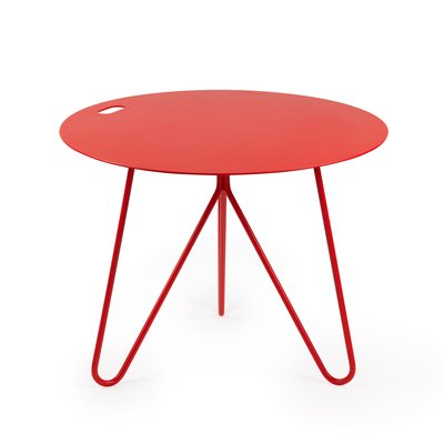 seis center table in red by mendes macedo for galula