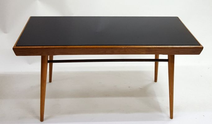 coffee table with glass top 1960s