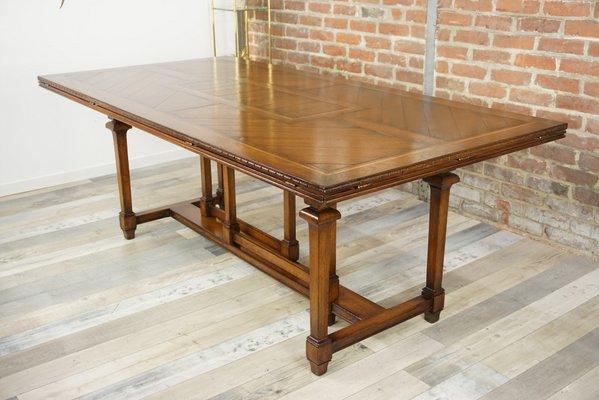 table de salle a manger vintage en bois 1940s