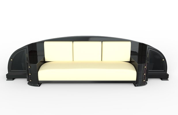 Art Deco Black Sofa 1920s For Sale At Pamono
