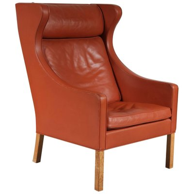 Mid Century Danish Wingback Chair By Borge Mogensen For Fredericia 1960s For Sale At Pamono