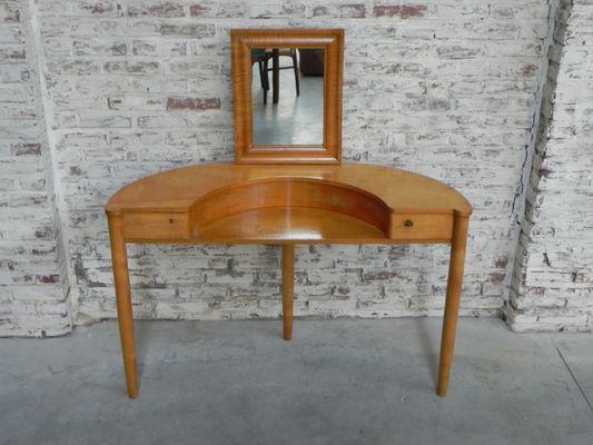 coiffeuse vintage avec miroir 1950s 1