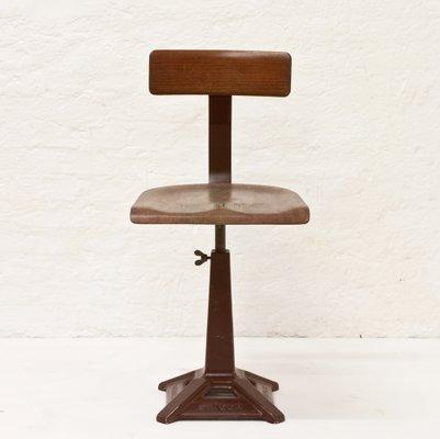 chaise d atelier a hauteur reglable de singer 1920s