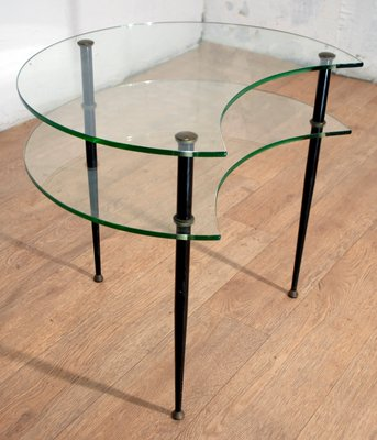 coffee table with 2 shelves by edoardo paoli for vitrex 1950s