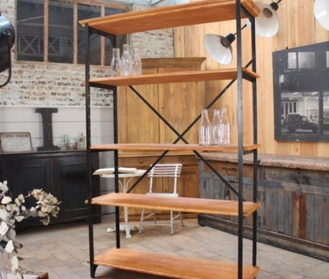 Vintage French Industrial Shelving Unit 1950s 1