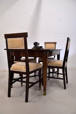 table et chaises de salle a manger vintage 1928